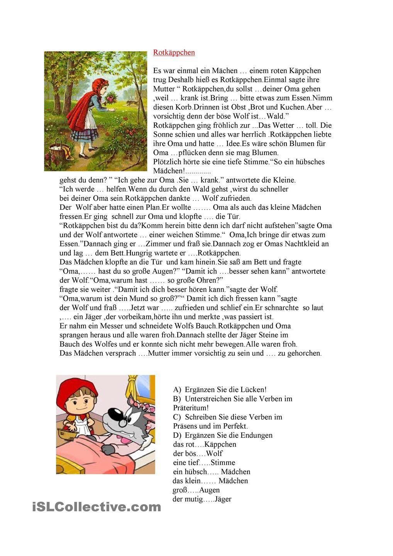 Rotkappchen   Schule   Pinterest   Märchen, Adjektive und ...