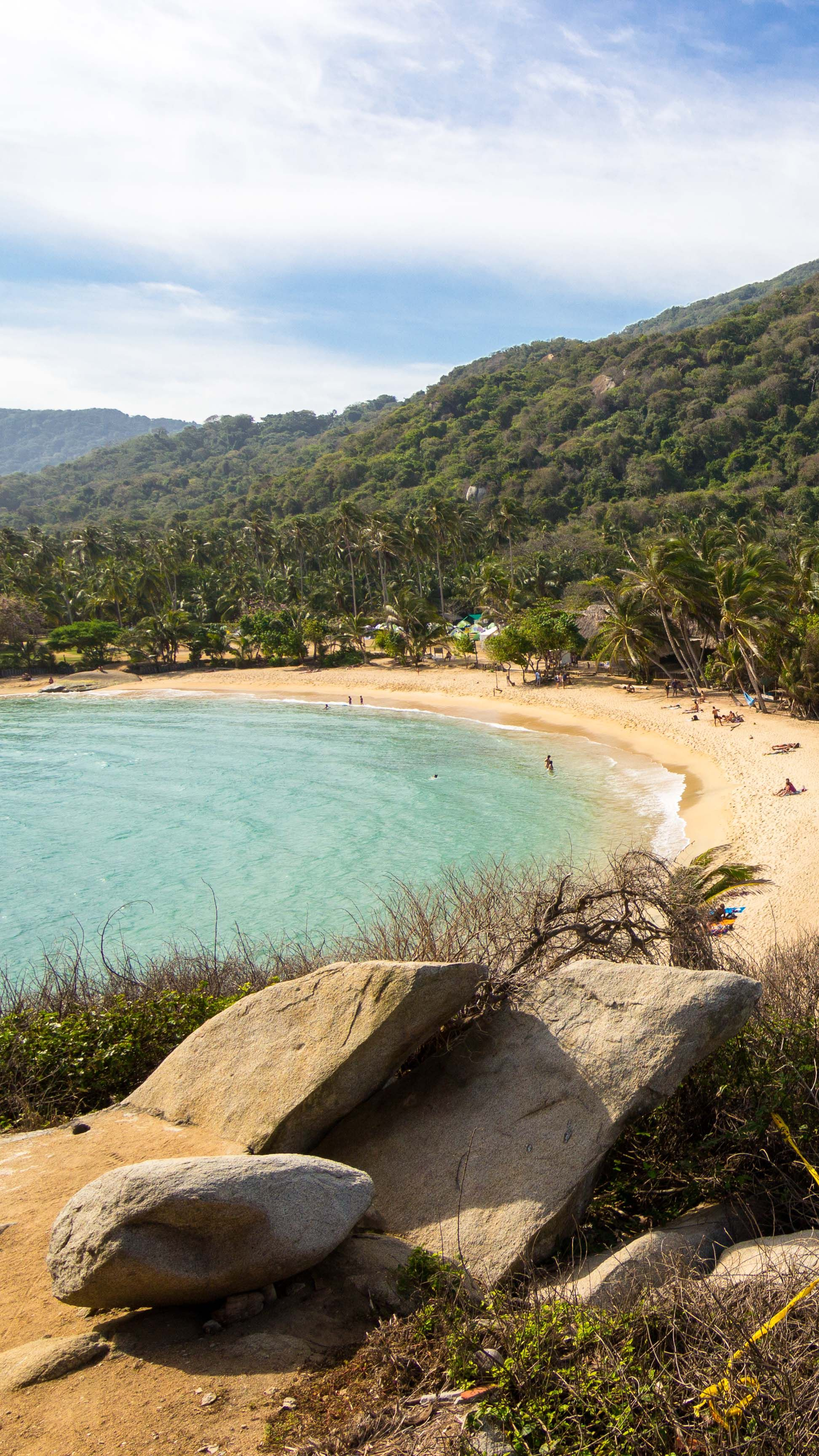 One of the fabulous beaches of Tayrona National Park, Colombia