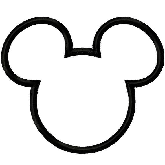 Mr Mouse Head Silhouette Applique Machine By Digitizingdolls Mickey Mouse Template Mickey Mouse Silhouette Mickey Mouse Head