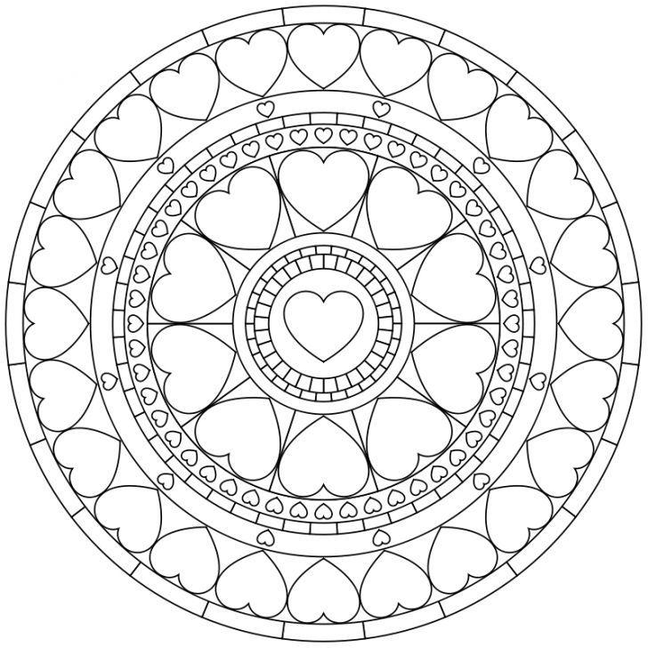 mandalaausmalbild nr 43  geometric coloring pages