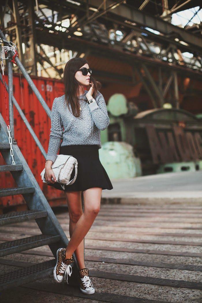 falda y converse
