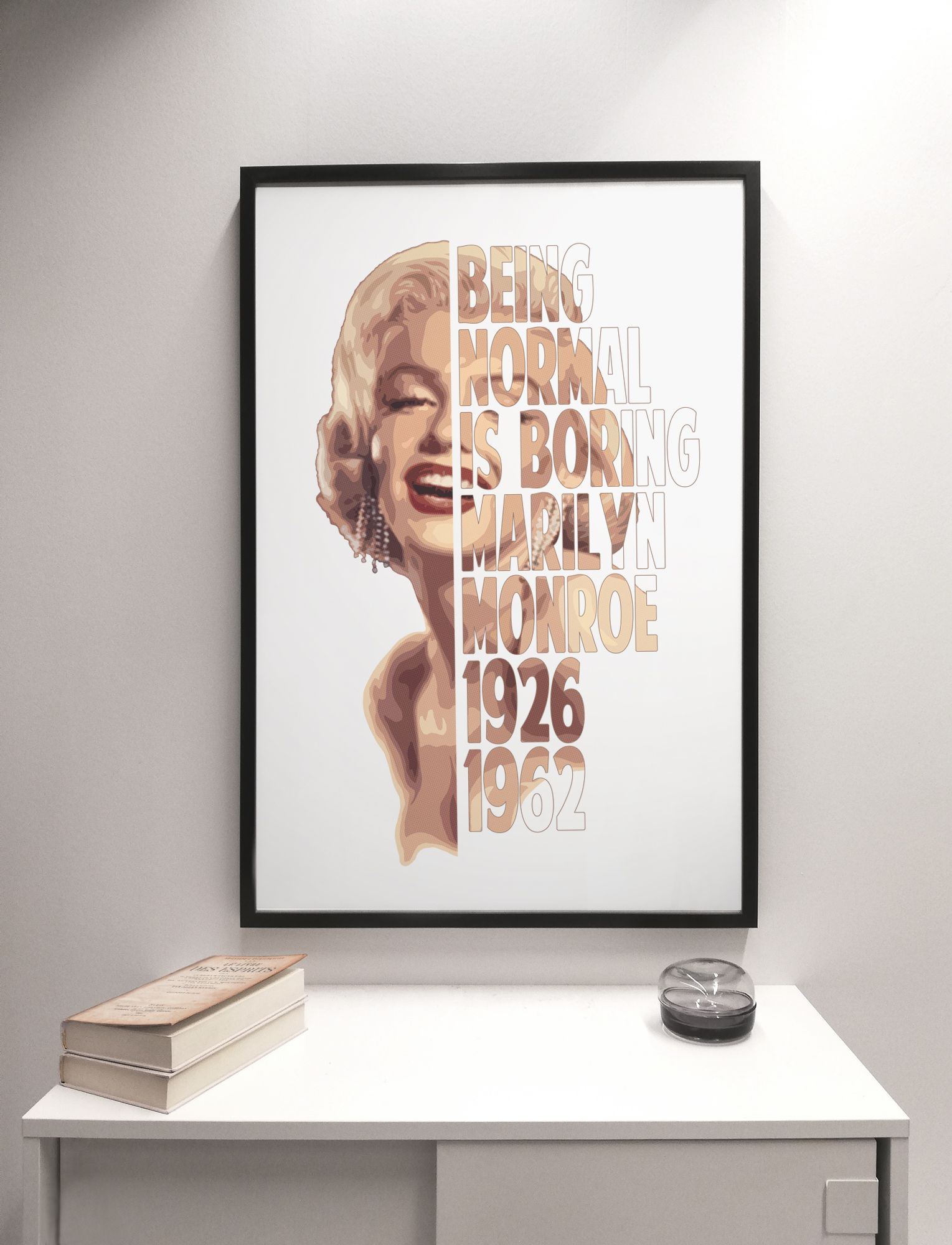 ACTRESS POSTER Marilyn Monroe Written Images