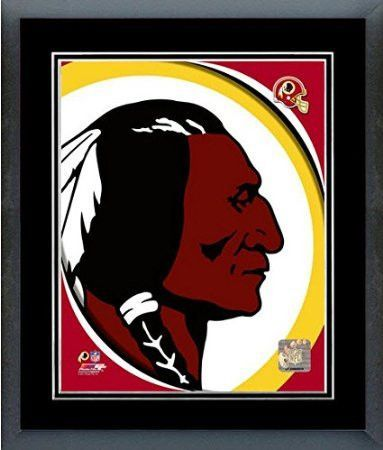 Washington Redskins Team Logo Framed With double black matting Ready To Hang- Awesome & Beautiful