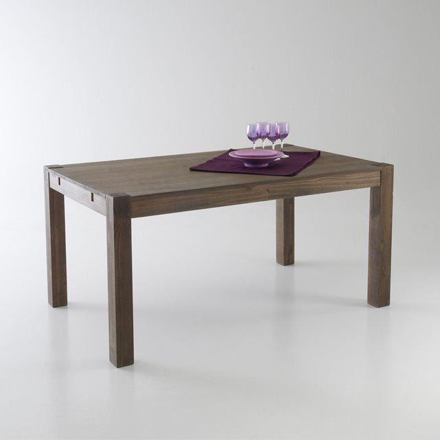Table 2 allonges pin massif 6 8 couverts lunja la for Table haute la redoute