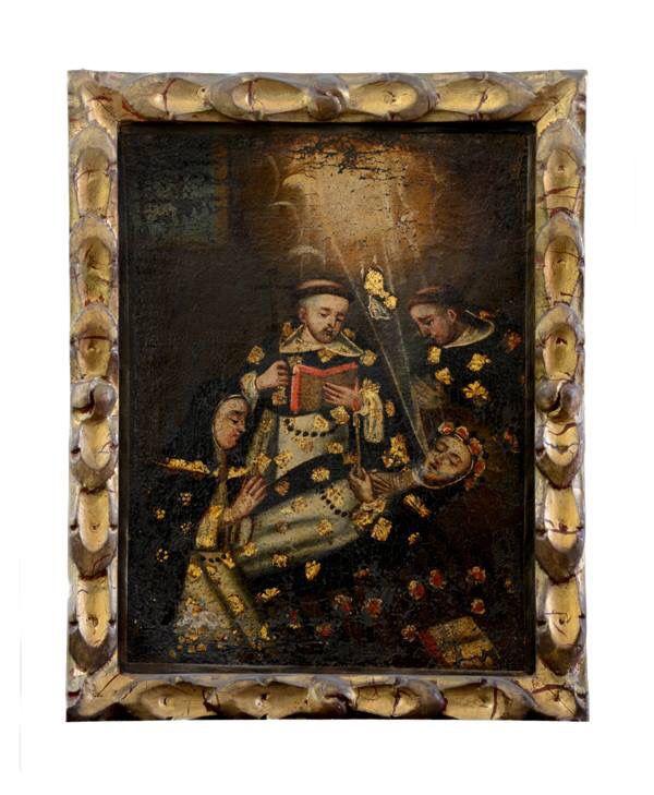 """""""Muerte de Santa Rosa de Lima""""Anónimo cuzqueño, siglo VIII. Colección Iglesia de la Merced. Santiago, Chile"""