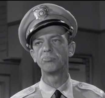 "Don Knotts as Barney Fife in ""The Andy Griffith Show""."