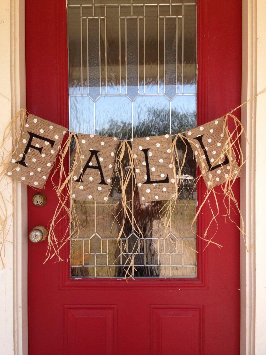 Fall Burlap Banner by stackhouseLA on Etsy | Fall burlap ...