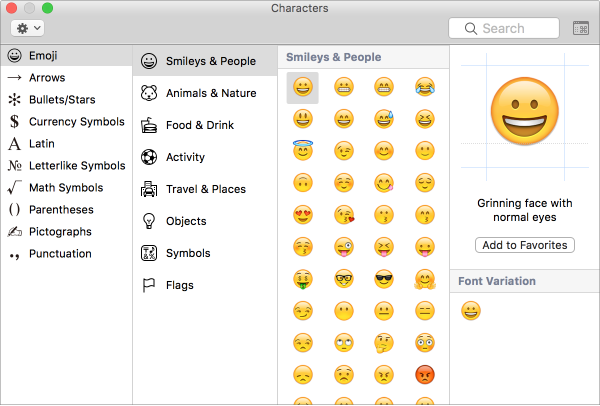 The Character Viewer Shows Emoji And Symbols Christmas Cards