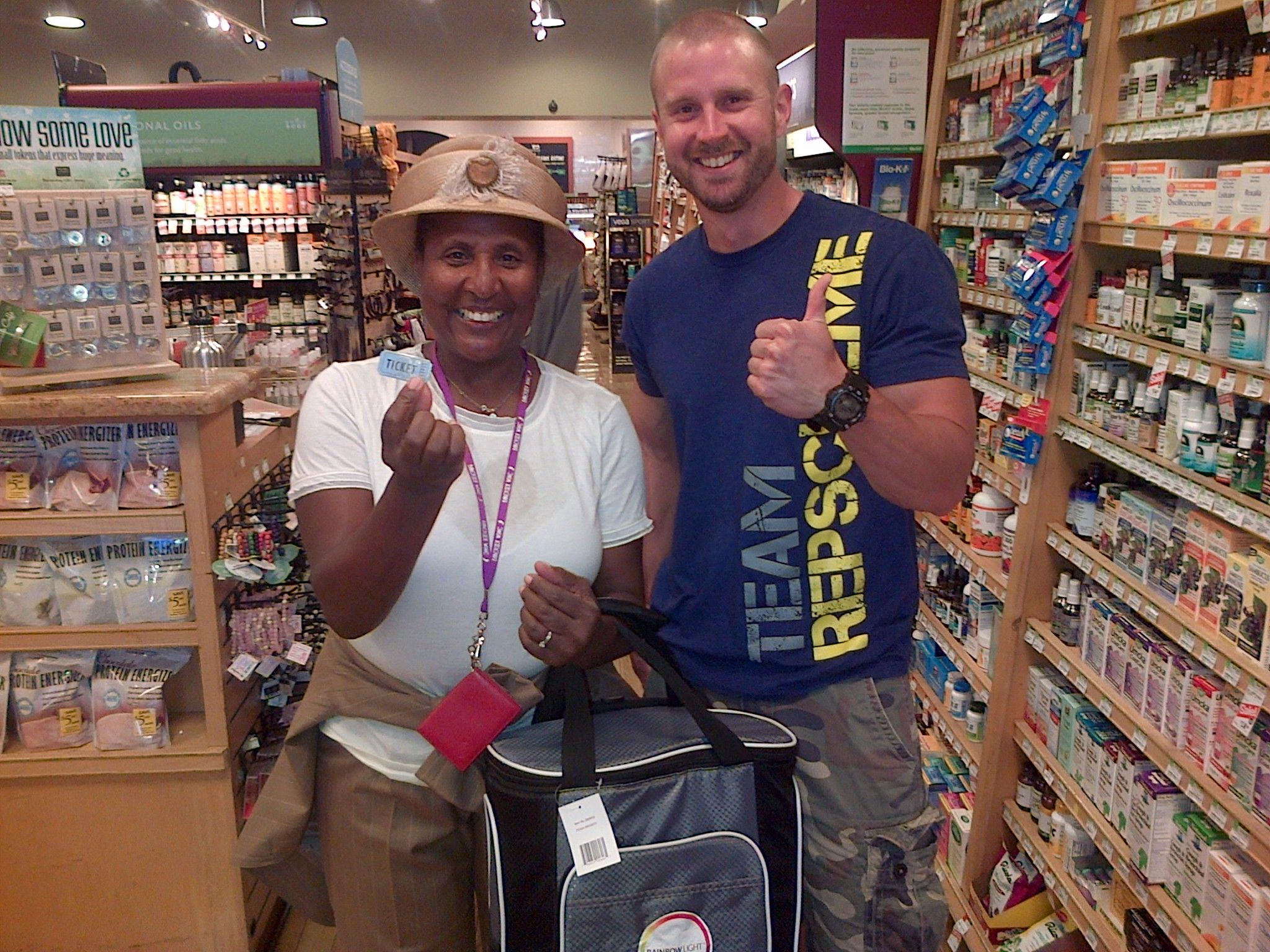 I just won a cooler full of goodies from whole foods in