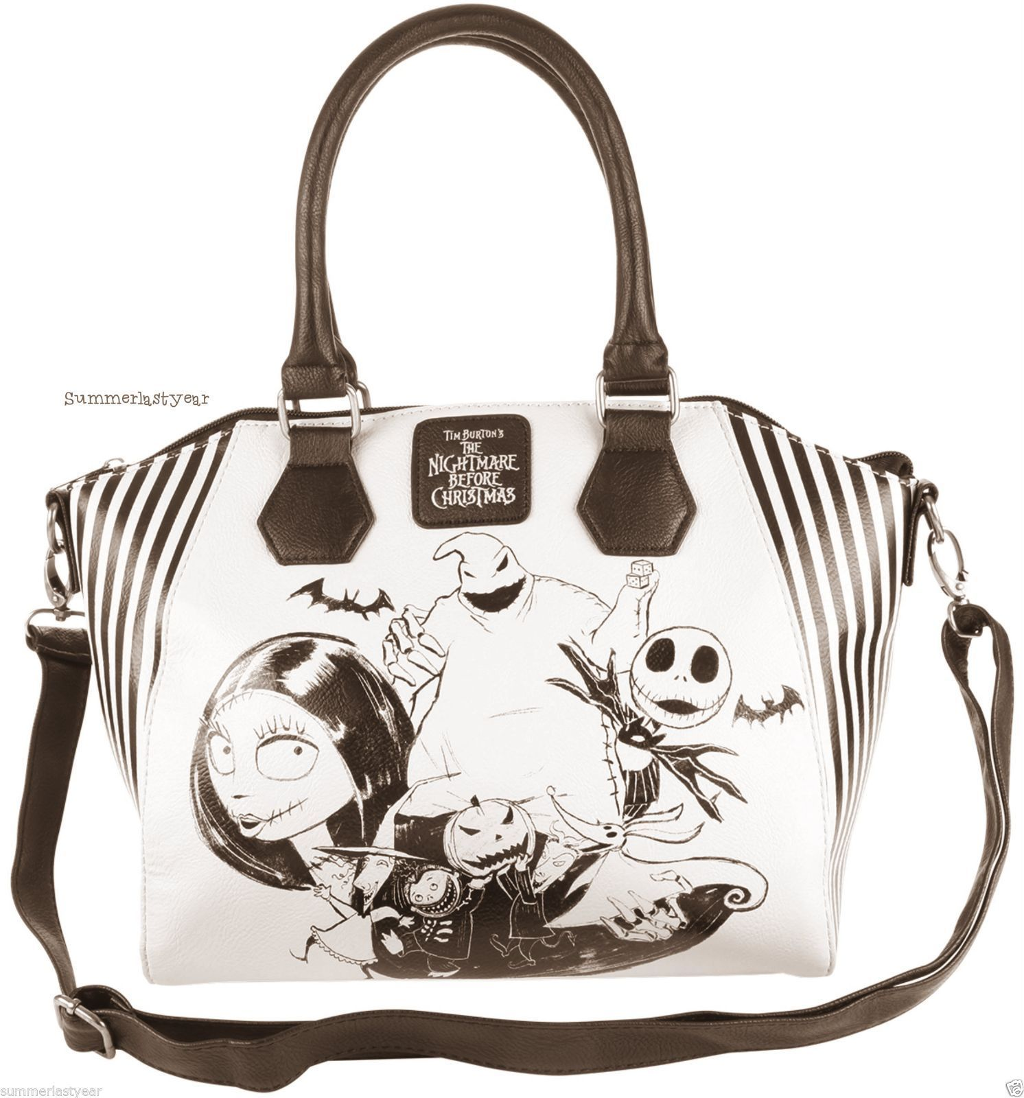 the nightmare before christmas satchel purse hand bag shoulder bag free ship ebay nightmare before - Christmas Purses Handbags