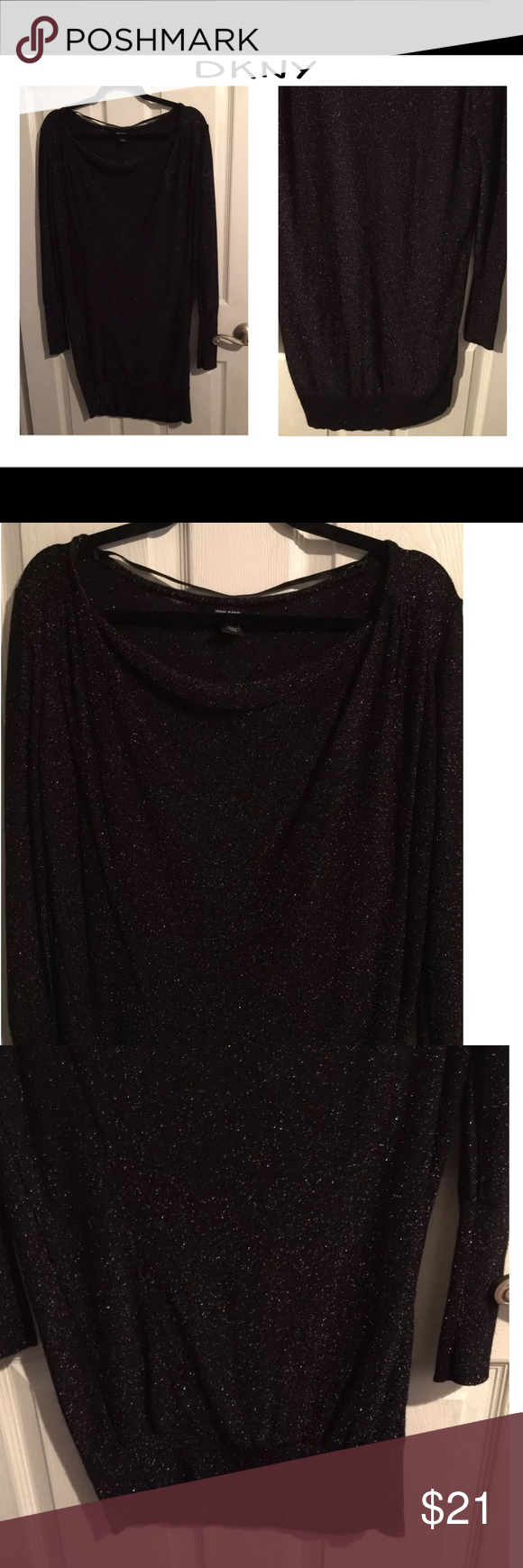 Dkny black gold metallic excellent used condition dkny black gold