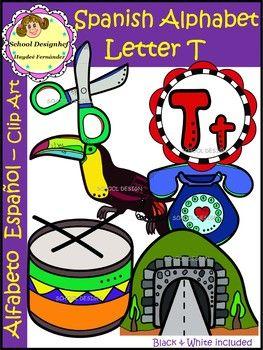 Spanish Alphabet Letter T Clip Art Alfabeto Letra T School Designhcf Lettering Alphabet Letter T Lettering