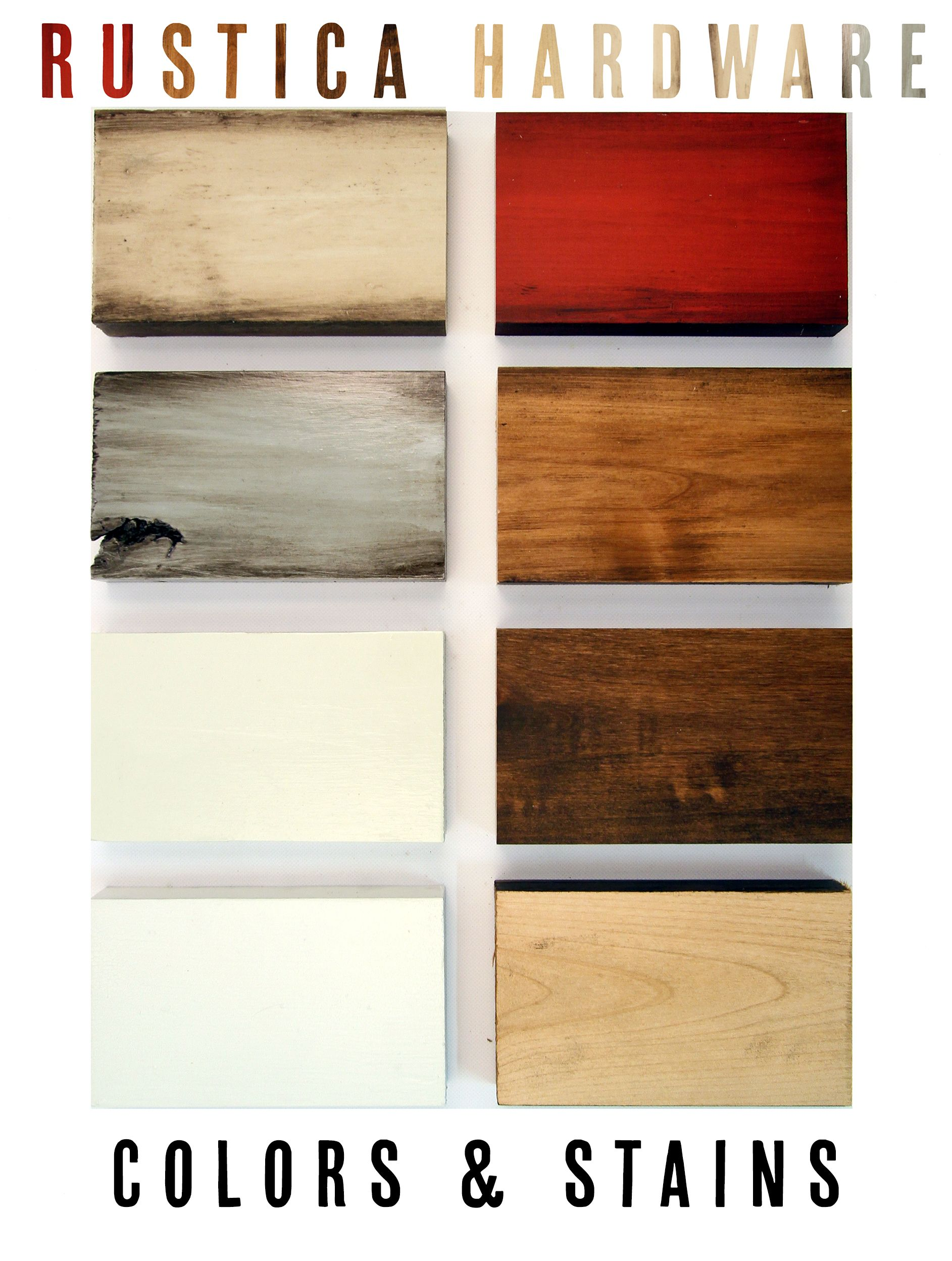 Rustica Hardware Colors And Stains For Rolling Barn Doors Red