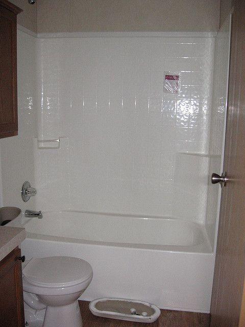 One-piece tub/shower combo | Bathroom | Pinterest | Shower enclosure ...