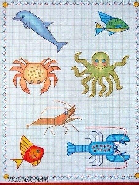 Рисуем по клеточкам Прописи, поделки, картинки Pinterest - graph paper word