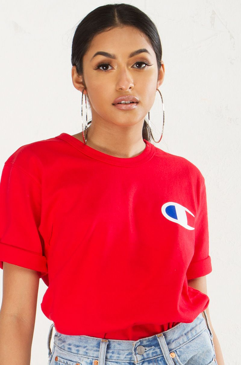 9d9a969a Champion Tee in Black, White, Grey and Red | dope•shirts ...