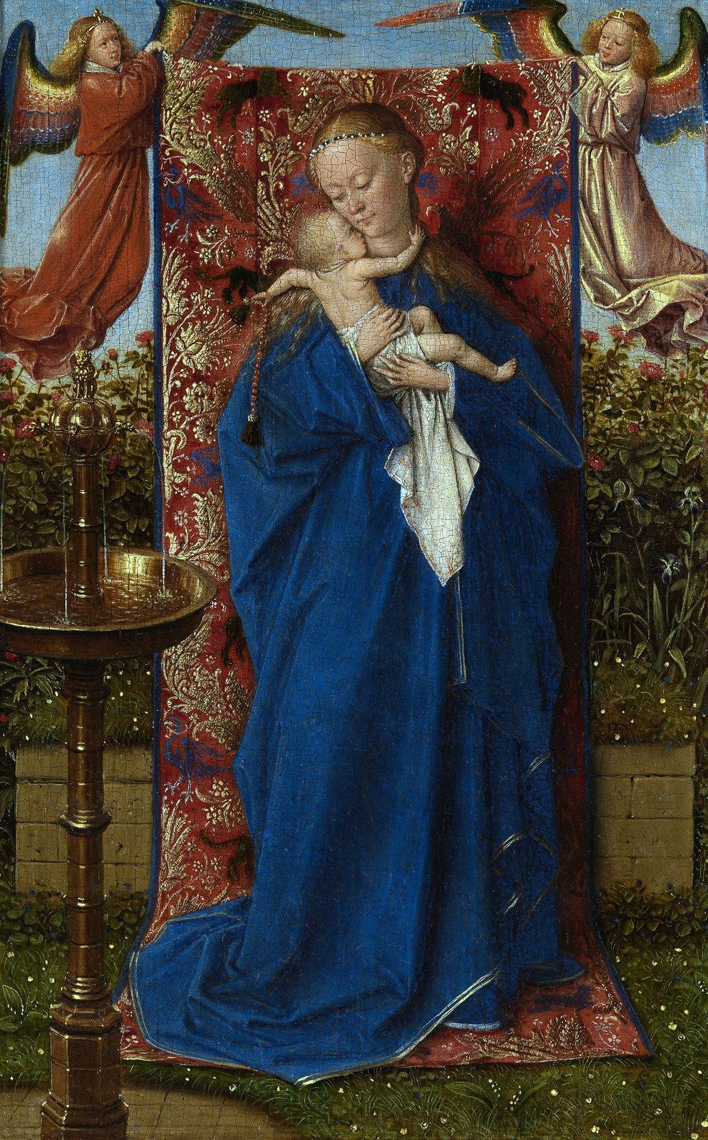 Jan Van Eyck Madonna Am Brunnen Madonna At The Fountain Jan Van Eyck Madonna And Child Renaissance Paintings