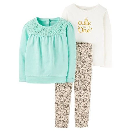 64a04c41744a Toddler Girls  3 Piece Animal Print Set Mint Animal Print - Just One ...