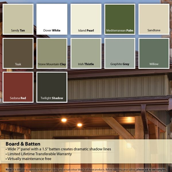 Vinyl Siding Colors, Board And