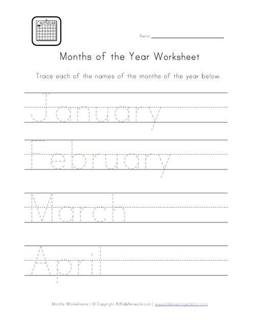 Number Names Worksheets worksheet for months of the year : 1000+ images about months of the year on Pinterest