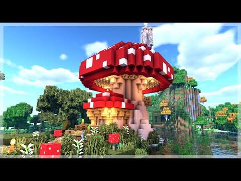 Minecraft How To Build A Mushroom House Tutorial