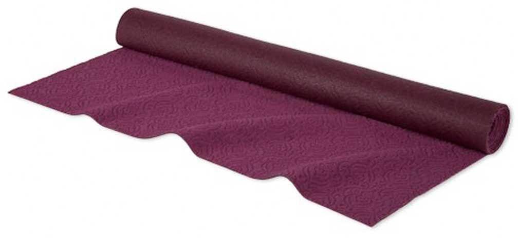 "Great for Bikram yoga. 1.2 mm natural rubber base. 72"" (183 cm)  x 24"" (61 cm)  Wide. Face: 75% Polyester, 25% Nylon. Base: 100% Rubber. 2.2 lbs (1 kg)."