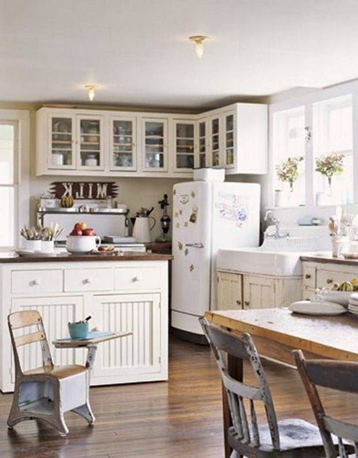 Shabby Chic White Kitchen Farmhouse Style  Kitchen Design Ideas Prepossessing Farmhouse Kitchen Design Design Decoration