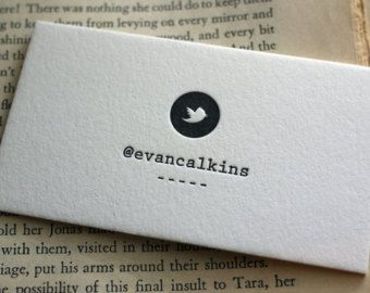 100 custom letterpress calling cards twitter card business cards 100 custom letterpress calling cards twitter card reheart Choice Image
