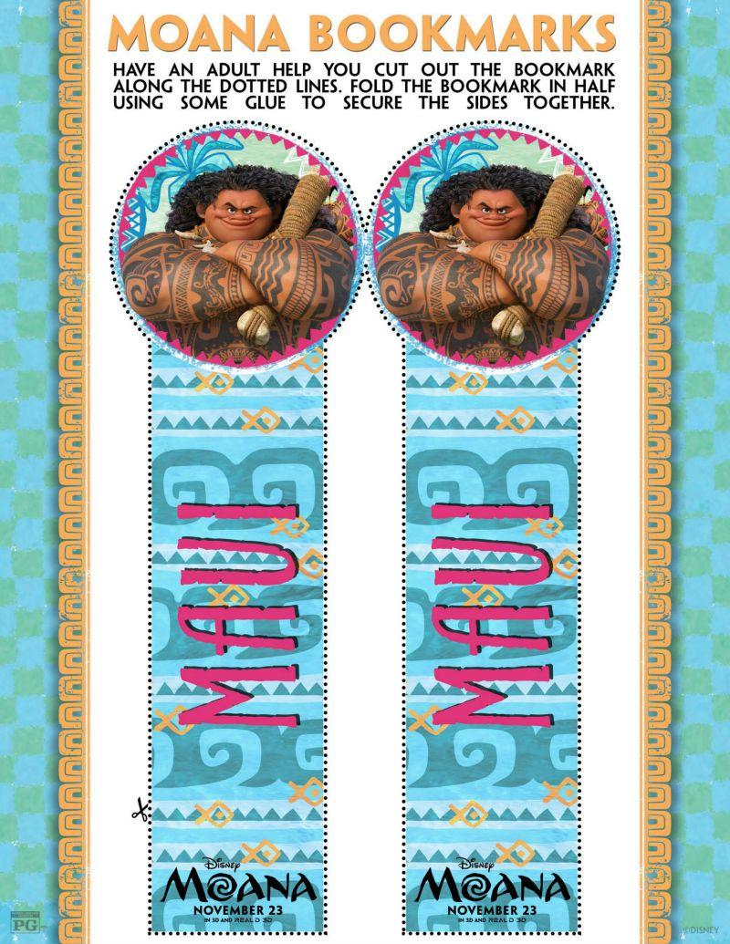 Moana Maui Bookmark Craft Printable
