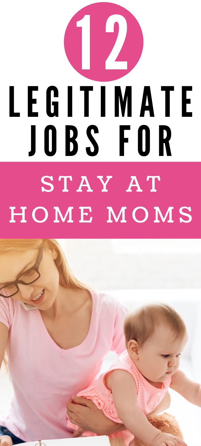 12 legit jobs for stay at home moms- real and creative ideas to make extra cash online from home. Simple side hustles for sahm's to make some money! From data entry to proofreading to starting your own business! + many more ideas. #sahm #wahm #adviceformoms #mom #workfromhome #sidehustles #makemoney side jobs for moms that are real!