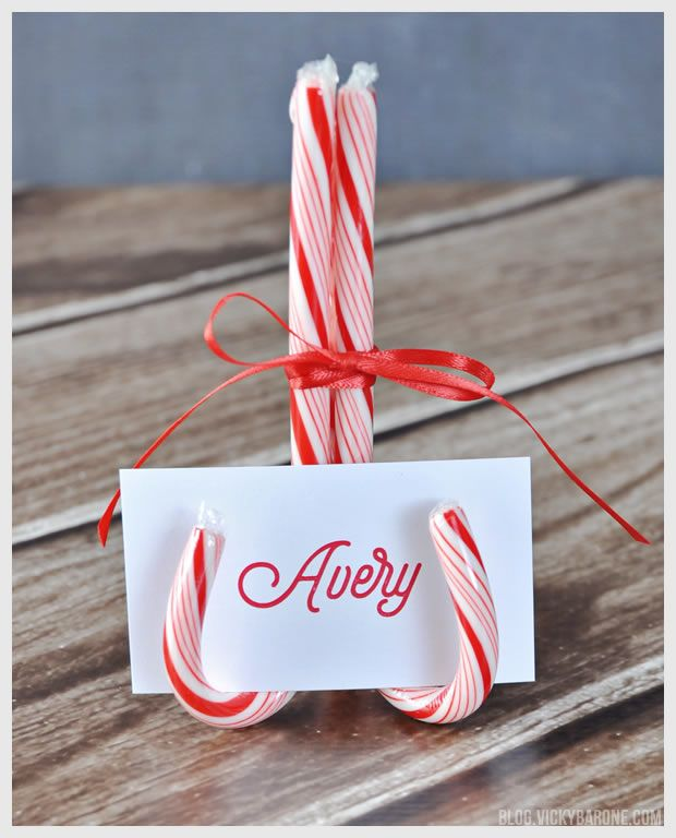 candy cane place card holders christmas candy cane crafts christmas christmas candy bar. Black Bedroom Furniture Sets. Home Design Ideas