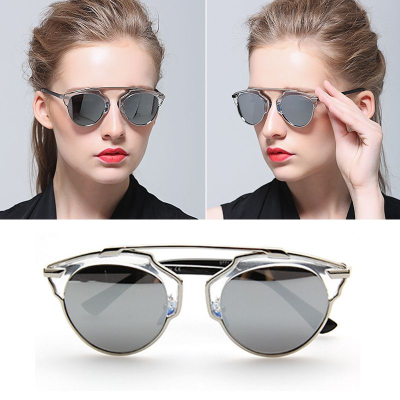 Cat Eye Mirror Celebrity polarized Sunglasses Classic Superstar ...
