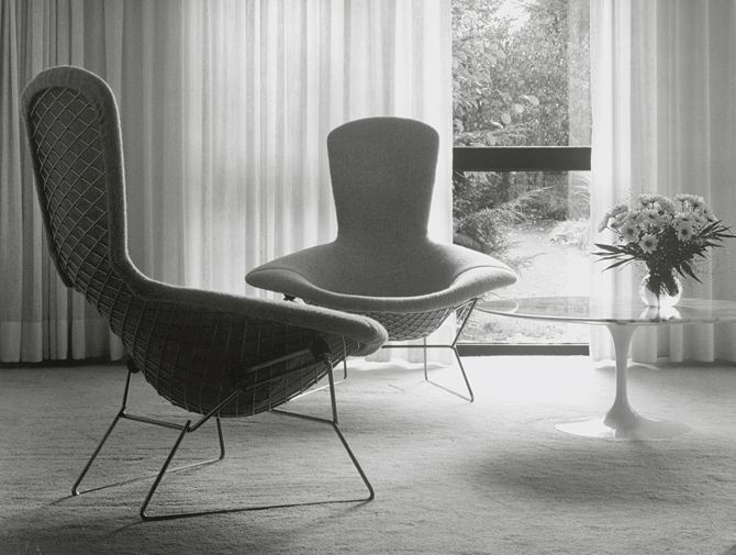 knoll harry bertoia wire lounge chair history | mod seating
