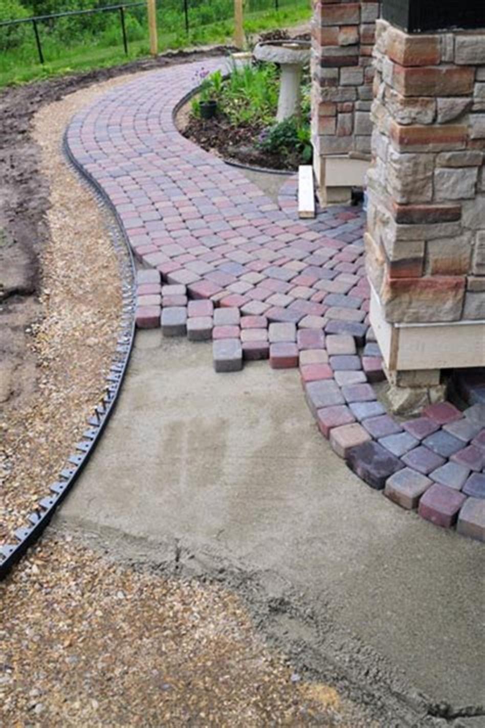 40 Best Brick And Concrete Walkway Designs Ideas Craft Home Ideas Concrete Walkway Walkway Design Patio Blocks
