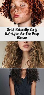 Schnelle natürlich lockige Frisuren für die beschäftigte Frau