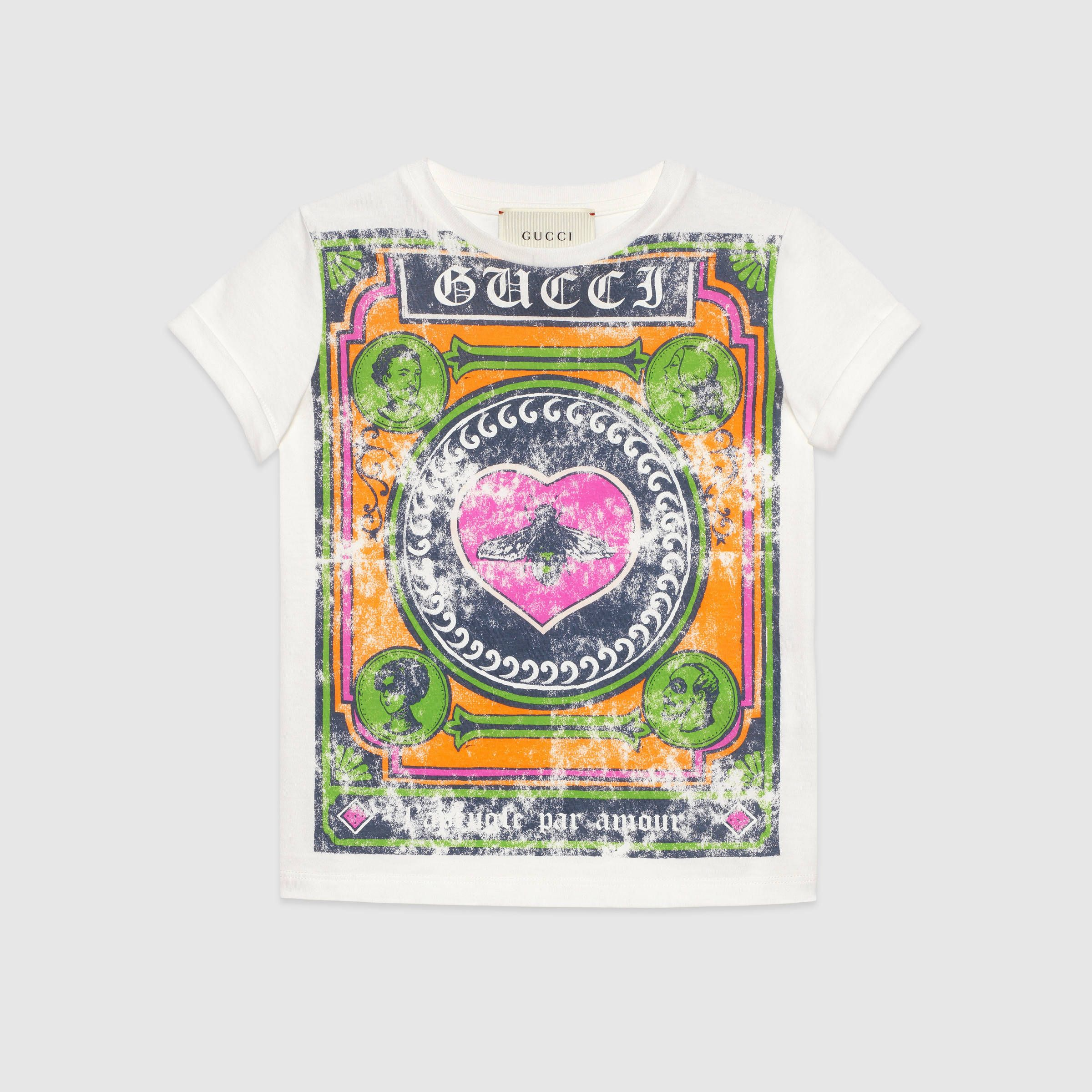 b5ff6569 Childrens Cotton T Shirt With Gucci Vintage Logo