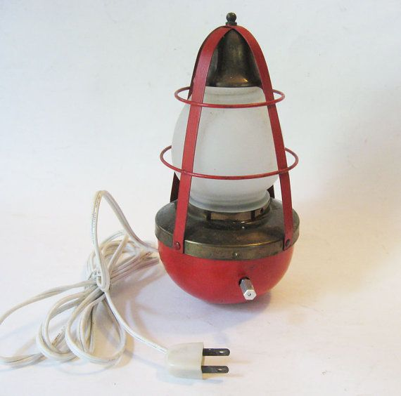 Nautical Brass RockingBuoy Lamp with Bell for by FabFunkyFinds