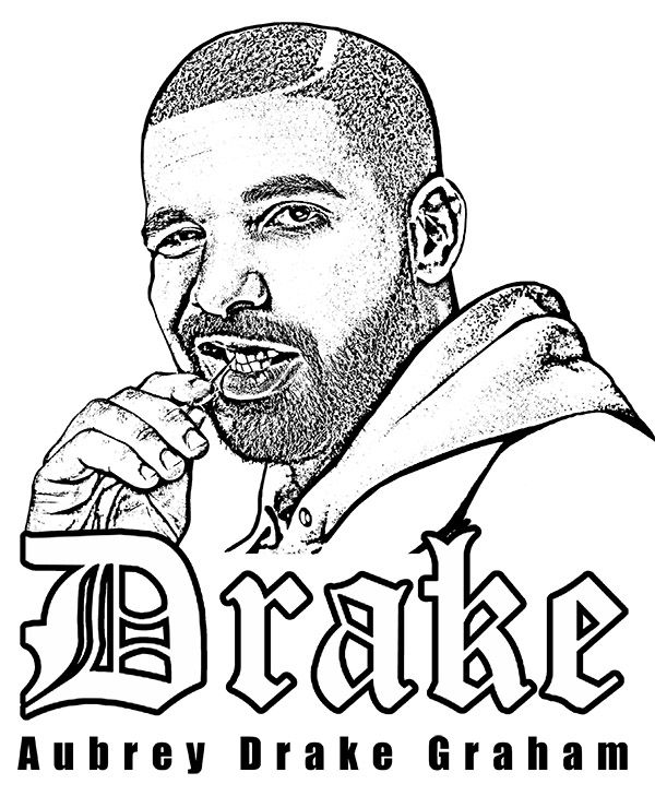 Coloring Page With Aubrey Drake Graham A Genius Of Rap Drake Singer Rapper Hiphop Coloring Coloringpages Coloring Pages Sketch Free Rapper Art