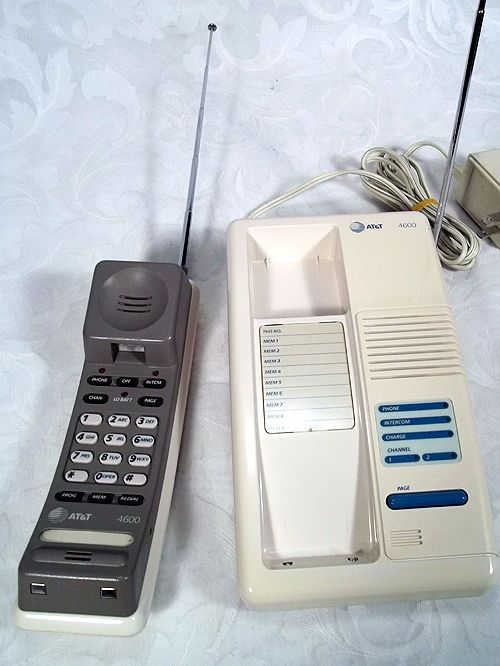 79 99 Free Shipping Vintage Retro At T Cordless Telephone 4600