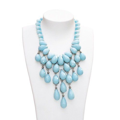 Siman Tu blue turquoise chandelier necklace