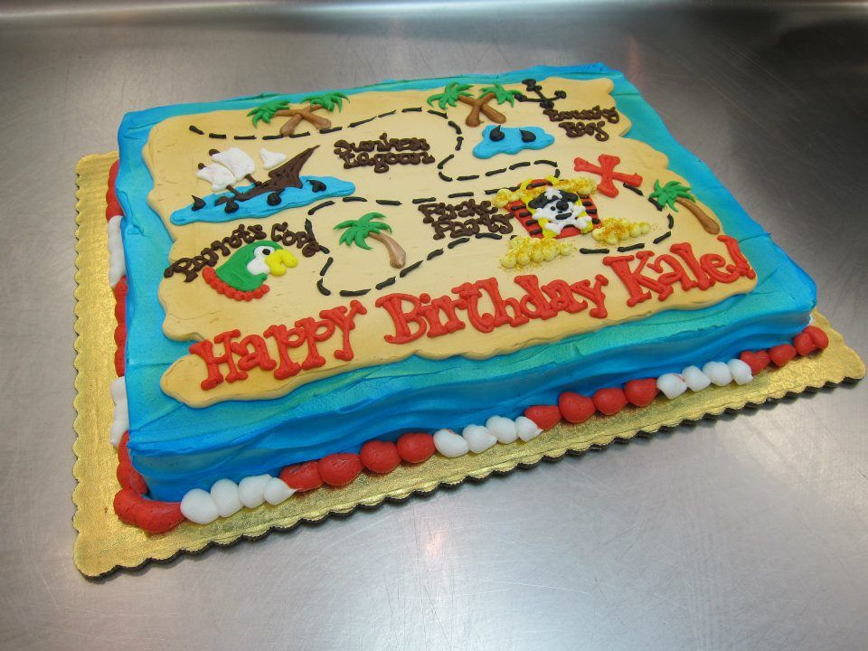 Pleasant Pirate Treasure Map Cake By Stephanie Dillon Ls1 Hy Vee Pirate Funny Birthday Cards Online Elaedamsfinfo