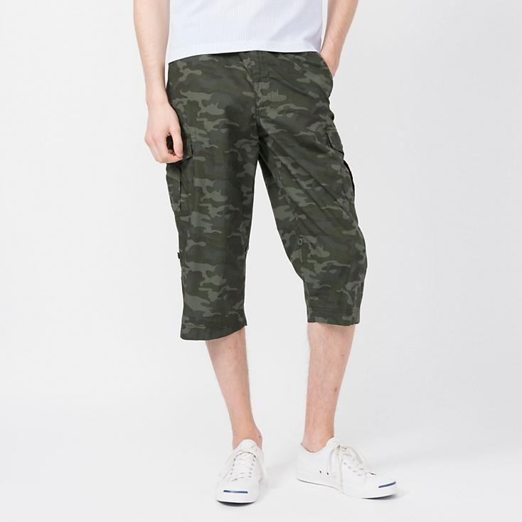 eb80d7f5 MEN ROLL UP 3/4 CARGO PANTS (PATTERNED)   cool wear   Pants pattern ...