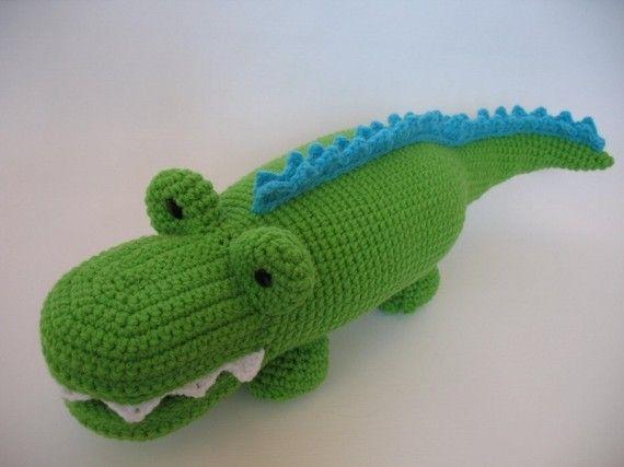 Crocheted Alligator Pdf Pattern Crochet Pinterest Crochet