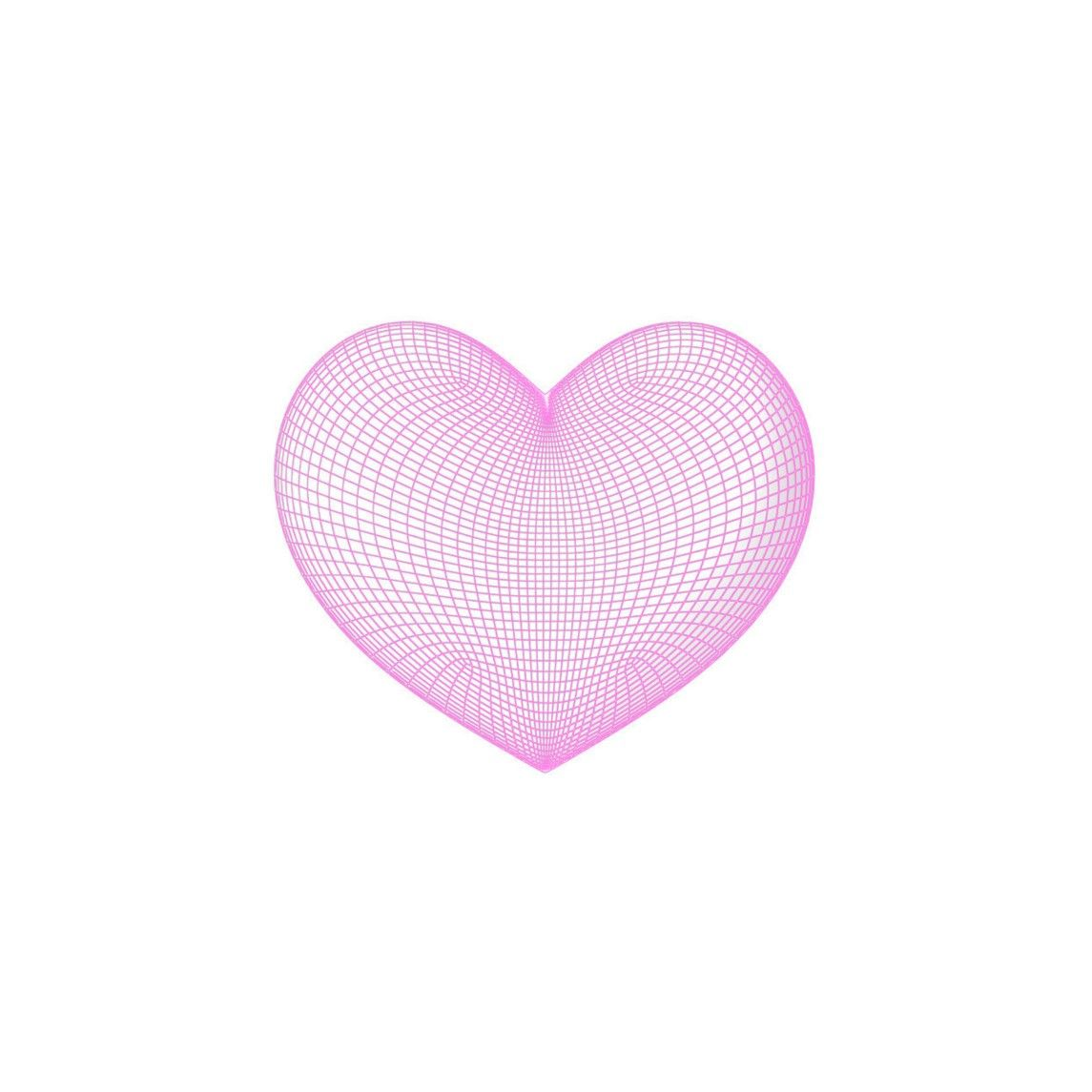 Pink Grid Heart Overlays Picsart Png Icons Aesthetic Stickers