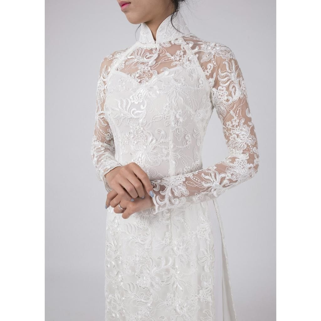 Ao Dai wedding dress. Tailor made to your exact measurements. White ...