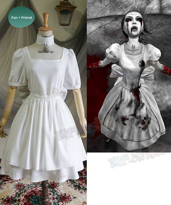 8872f92bfc7d9 Alice: Madness Returns (Game) Cosplay, Hysteria Maid Dress & Apron ...