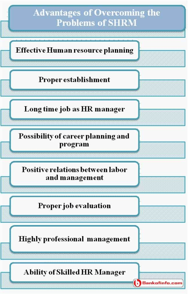 Advantages Of Overcoming The Problems Of Shrm  Human Resource