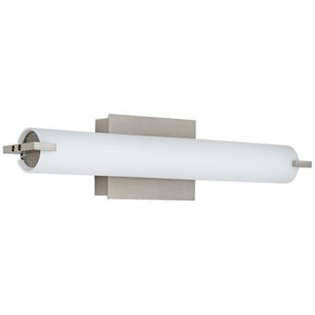 george kovacs 20 12 wide nickel led bath light