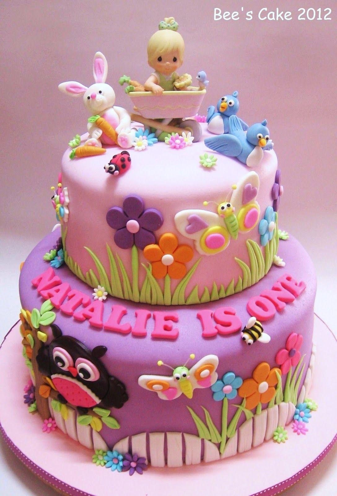 Bee Cake Jardim De Natalie Cakes Pinterest Cake Birthday