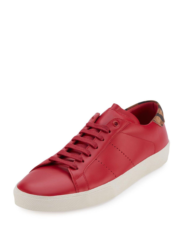Saint Laurent Leather Low-Top Sneaker